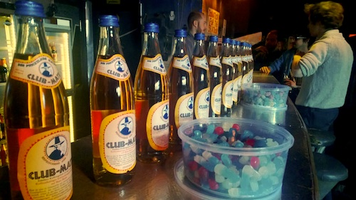 There was a never-ending supply of free Club Mate and food